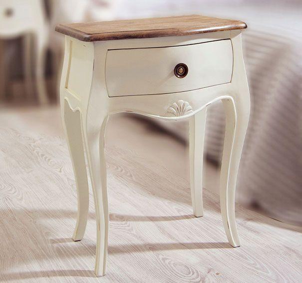 Mesita de noche 1 cajón bicolor Vintage París | Muebles: reciclaje ...
