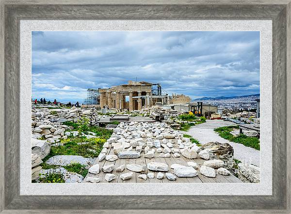 Acropolis Pieces Of The Puzzle Framed Print By Debra Martz Puzzle Frame Fine Art America Framed Prints
