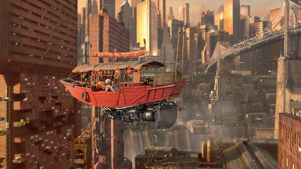 Jury Rigged Tech Fifth Element Futuristic City Cyberpunk Aesthetic