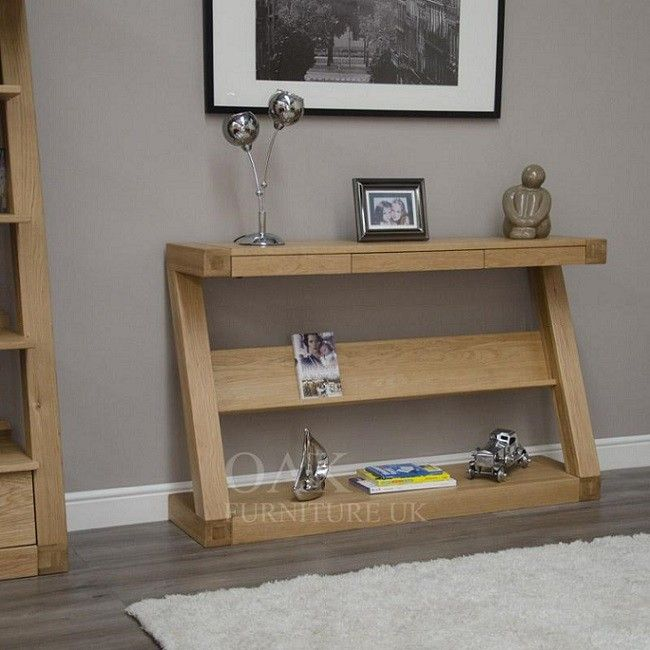 console hall tables furniture. z shape solid oak hall/ console table furniture uk hall tables