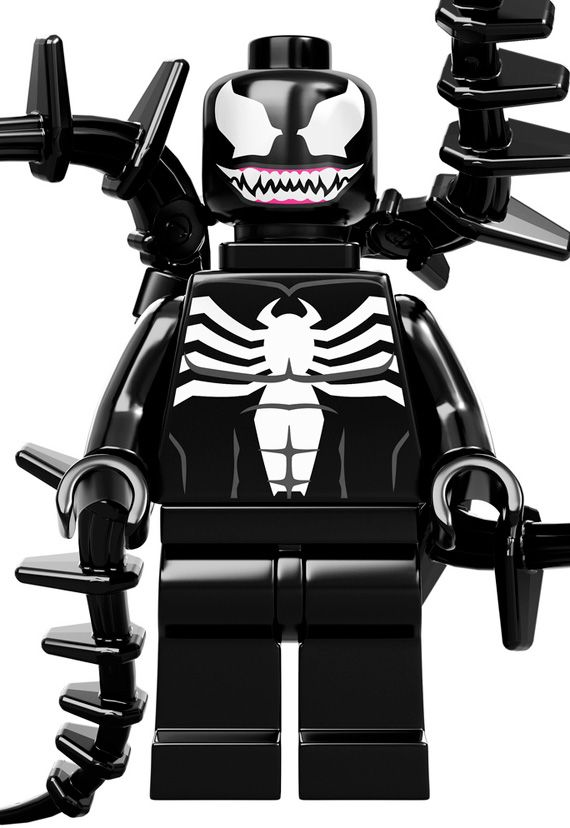 Venom Coloring Pages Lego Venom Spider Marvel Heroes: Marvel-lego-minifigures-venom-2