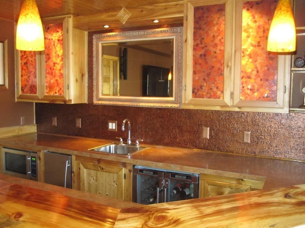 Copper ceiling tile backsplash creativechairsandtables
