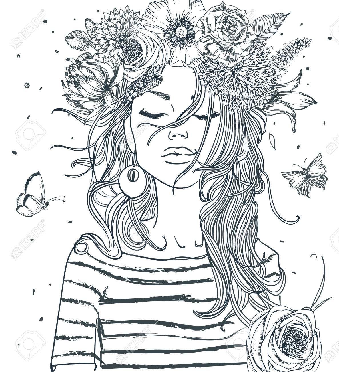 Beautiful Girl With Coffee Cup Illustration Ad Girl Beautiful Coffee Illustr Mandala Zum Ausdrucken Ausmalbilder Kostenlose Erwachsenen Malvorlagen