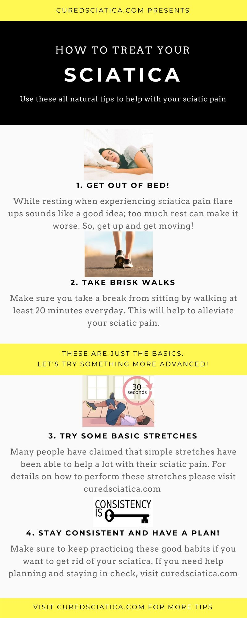 here's some sciatica treatment tips. these will help to relieve your