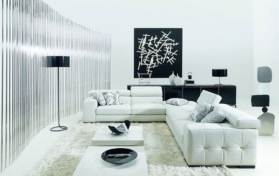 20 Idee di Design per Arredare il Soggiorno in Bianco e Nero | Pinterest