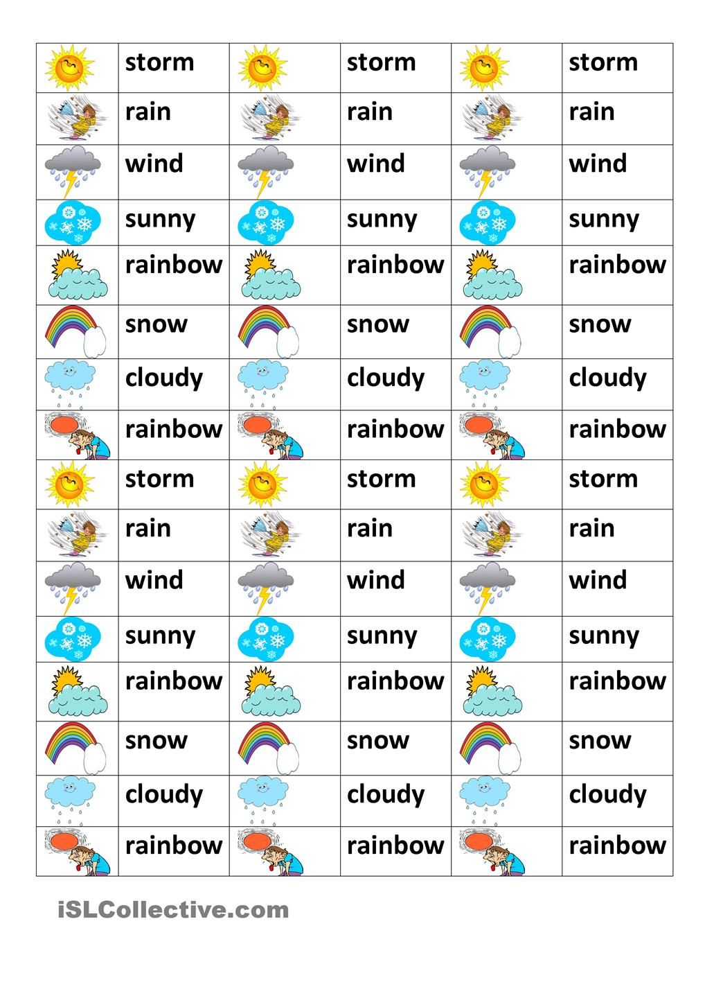 Weather test esl worksheets of the day pinterest weather weather test robcynllc Gallery