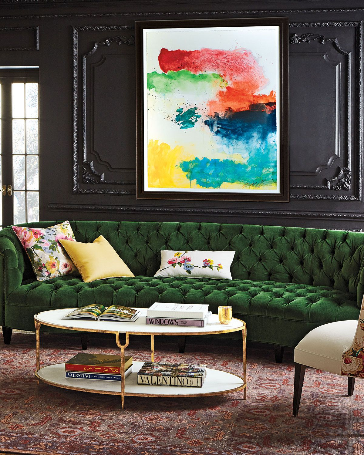 Old Hickory Tannery Eastman Tufted Sofa in 2020 Green