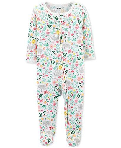 8f8295a5432d Carters Baby Thermal Zip-up Sleeper Preemie Elephant and Flowers ...