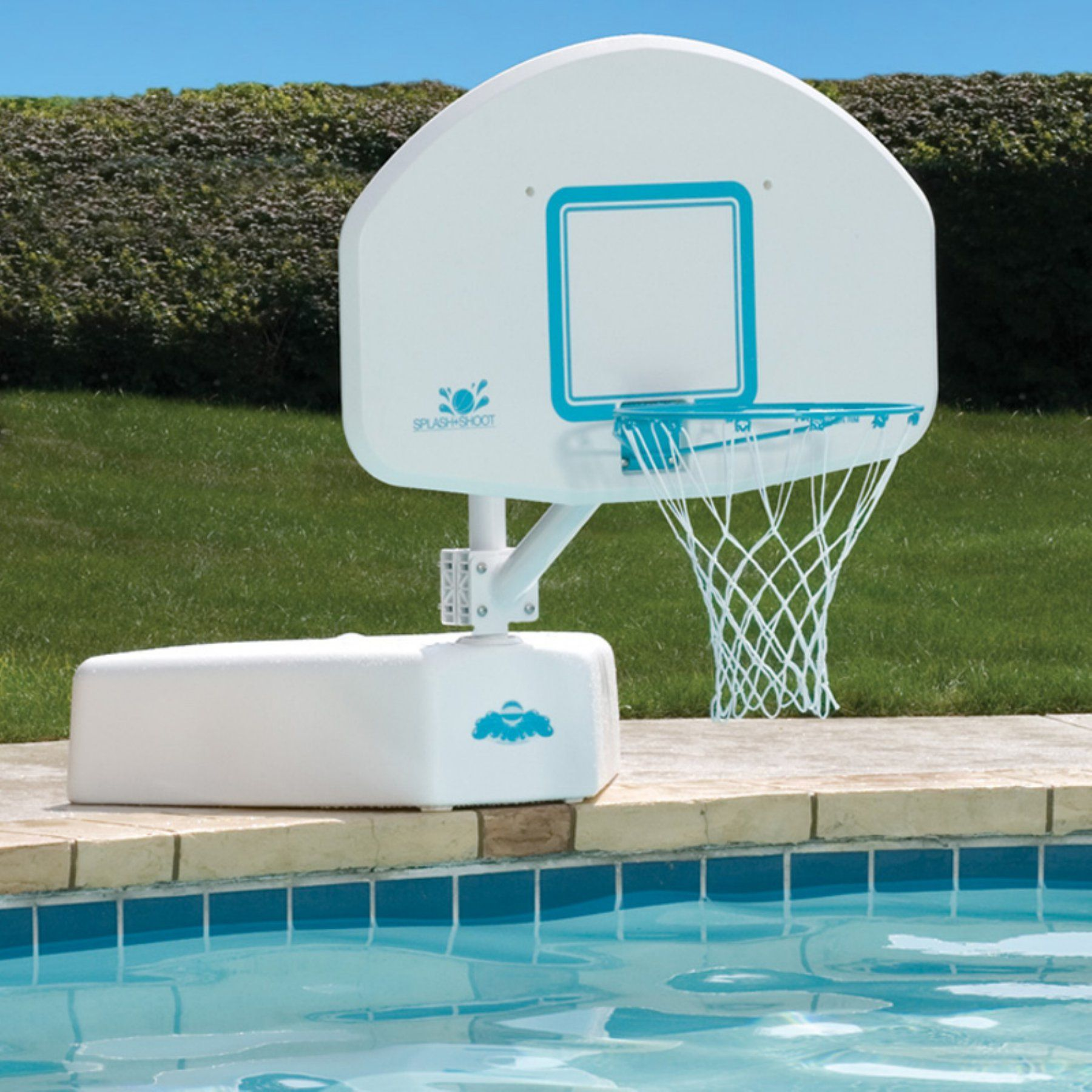 Splash & Shoot Swimming Pool Basketball Hoop with Stainless ...