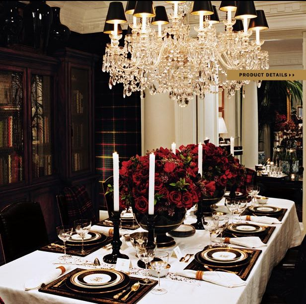 Ralph Lauren Home Noble Estate Collection black and red ...