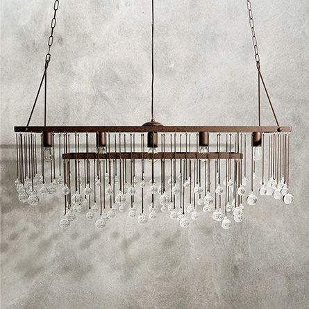 Aubrey Large Rectangle Chandelier Arhaus Furniture Rectangle