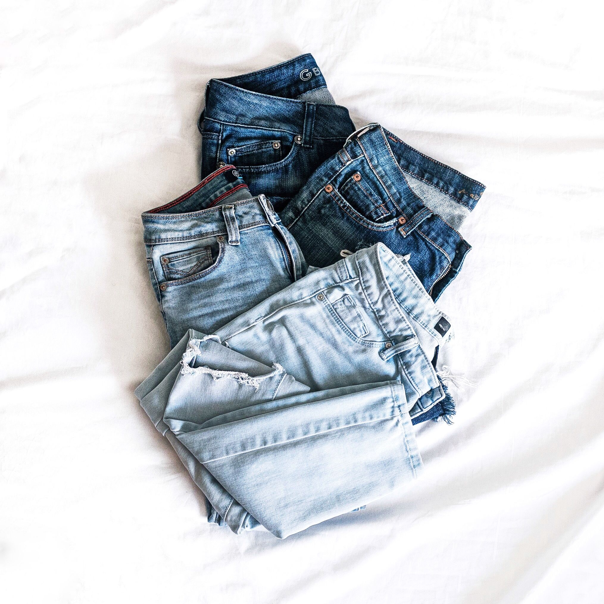 Image result for denim flat lay""