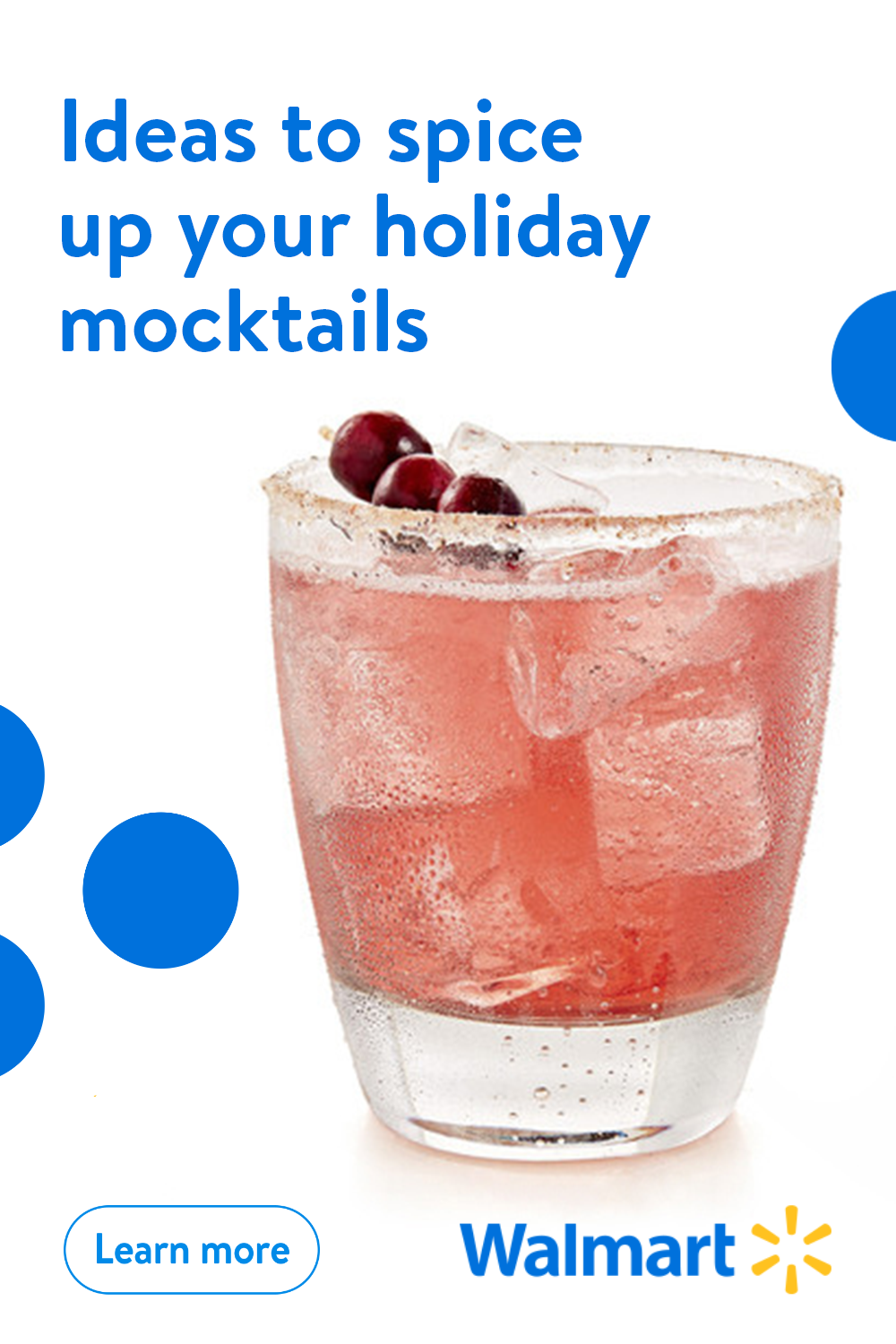 If you love mocktails, then you'll love these crafty ways to spice them up from Walmart. From adding bright and colorful garnish to creating herb-infused ice cubes, we can help take your holiday drink to a delicious new level.