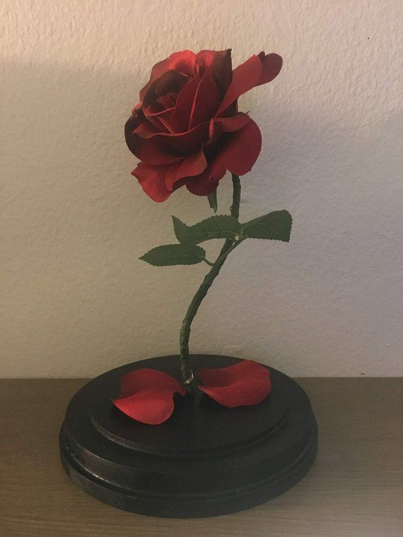 Enchanted Rose Beauty And The Beast Rose Anniversary Etsy Enchanted Rose Flower Lamp Beauty And The Beast