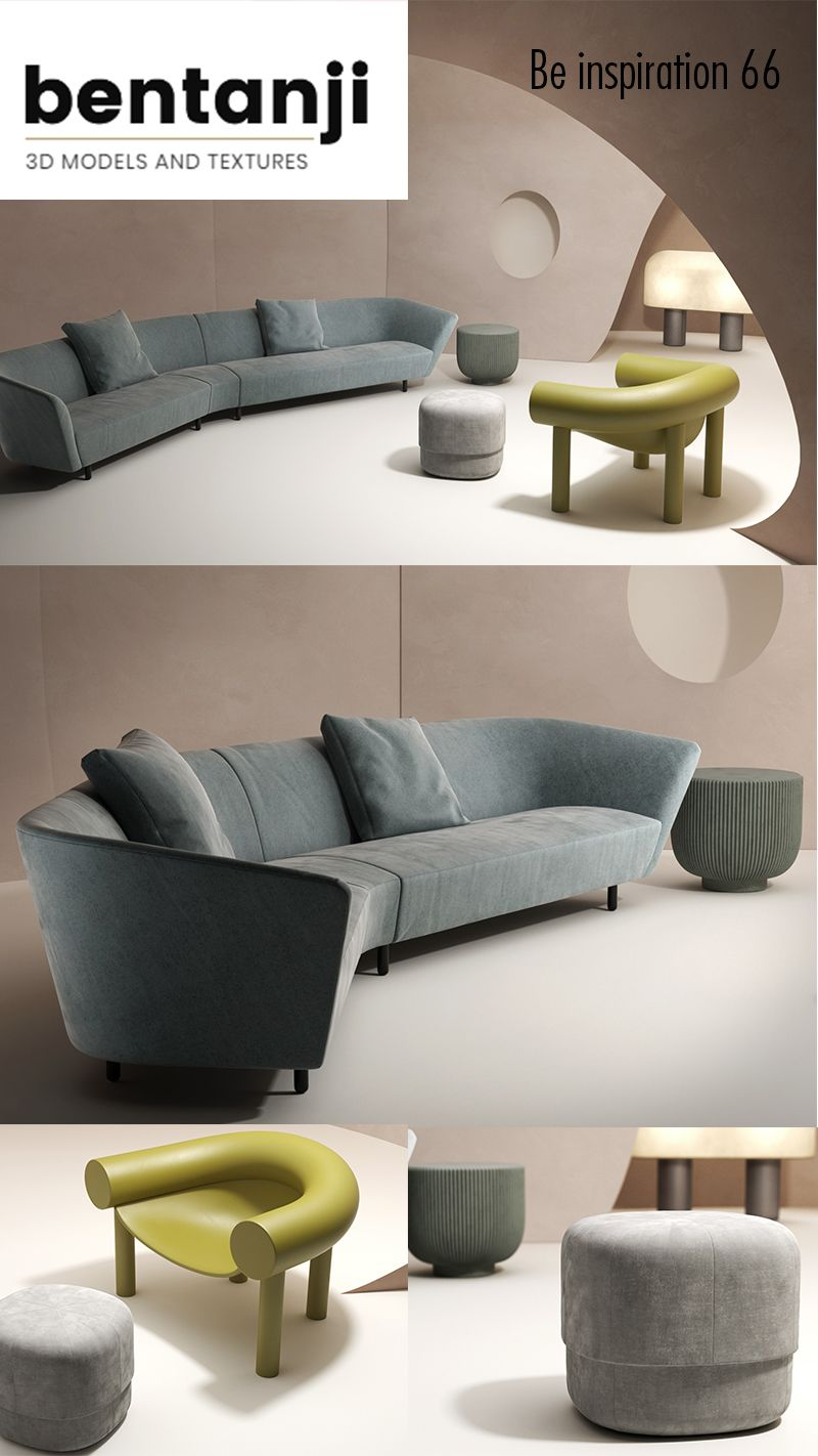 Inspiration virtual set living | 3d model | $26 23 each