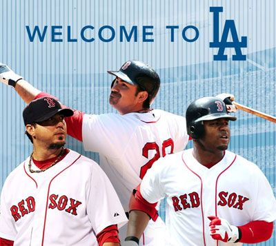 Welcome to LA. #redsox #dodgers