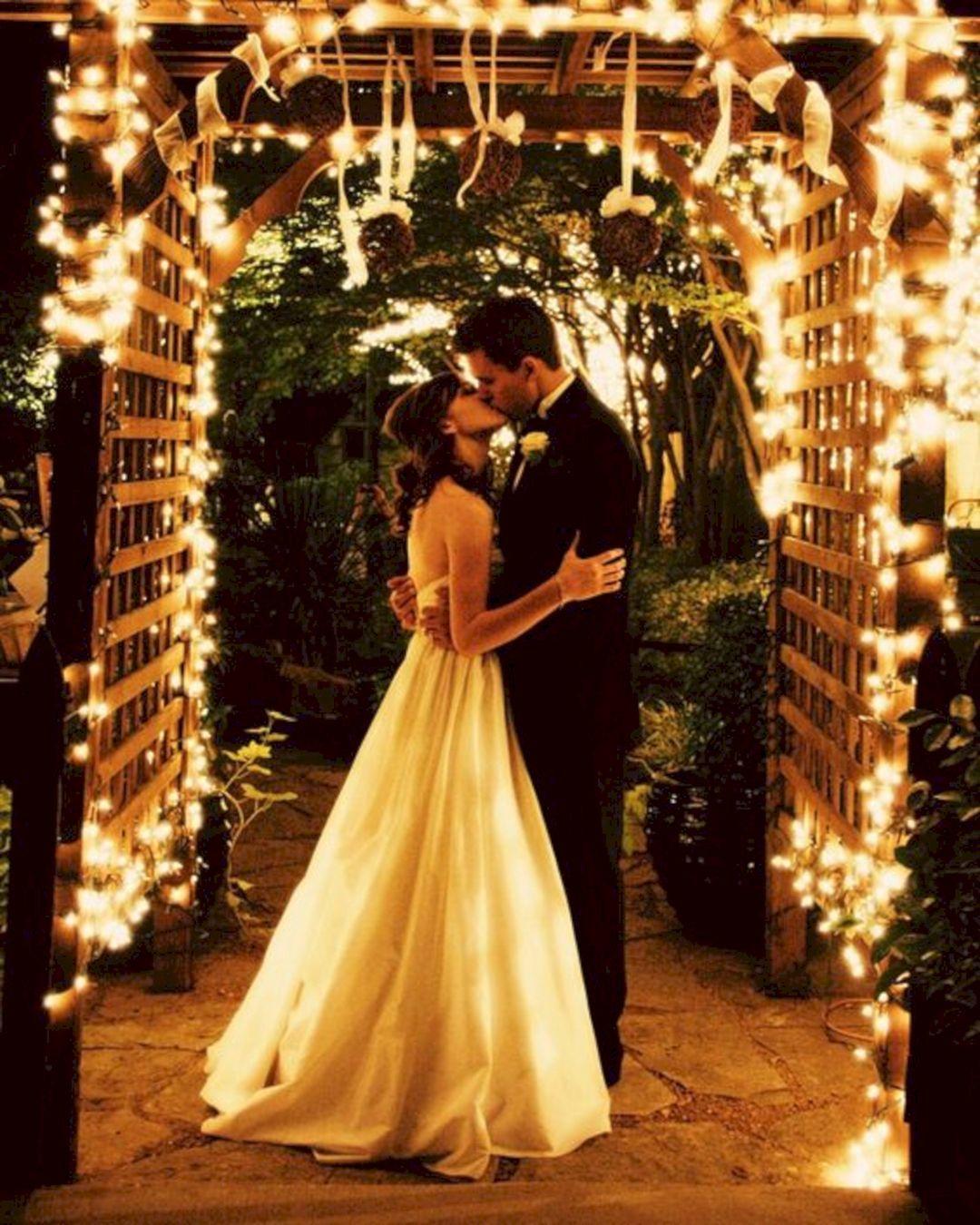 Night Beach Wedding Ceremony Ideas: 25 Outdoor Night Wedding Ceremony For Romantic Wedding