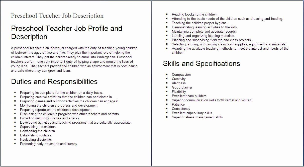 20 Teacher assistant Job Description Resume (With images