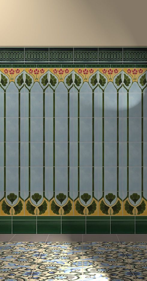 Art Nouveau Wall Deco Design Tile Pattern
