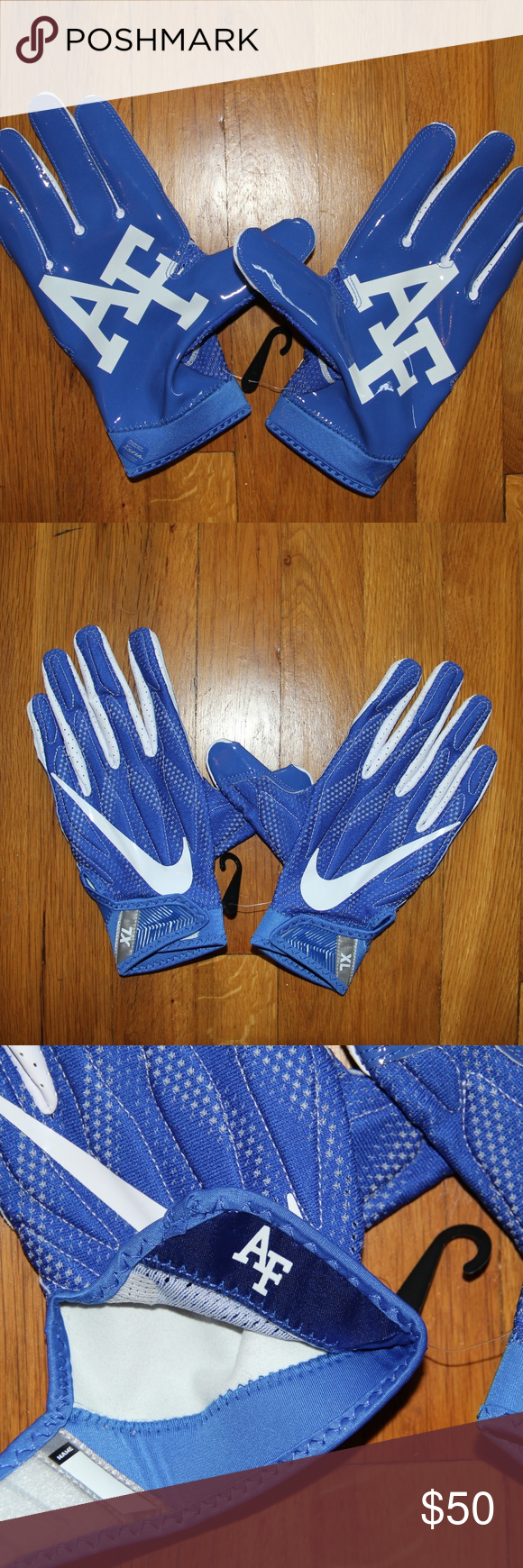 Nike Superbad Air Force Falcons Football Gloves Xl In 2020 Football Gloves Falcons Football Nike