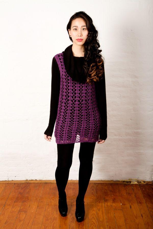 Lattice Shell Tunic, free crochet pattern by Marie Segares on Kollabora