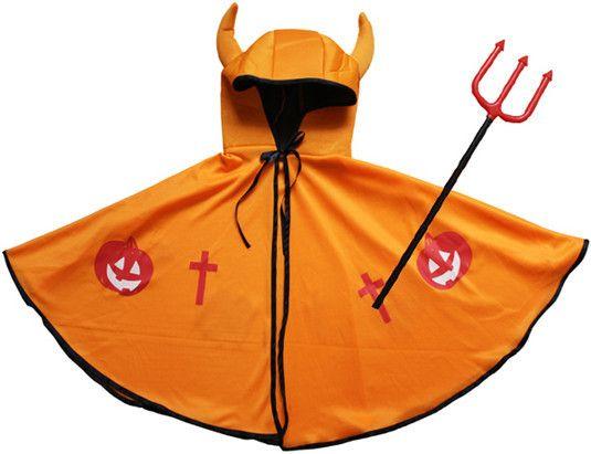 Halloween Kleidungsstück für Kinder mit Kürbis und Gabel - spitzekarte.com