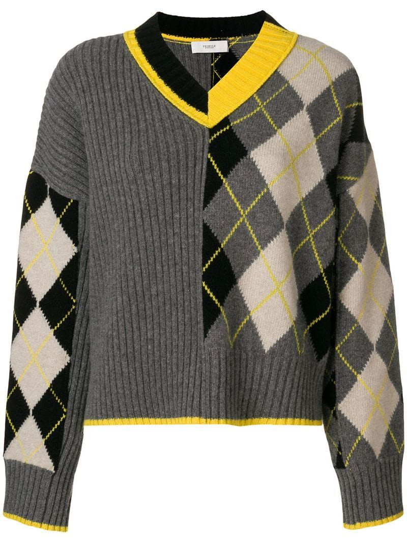 Pringle Of Scotland Argyle Panel Jumper Farfetch