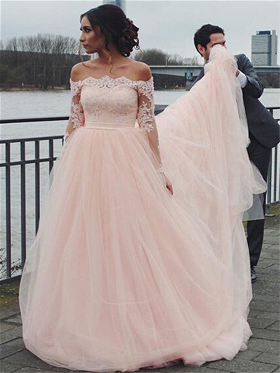 Pin auf Weddings-Blush/Pink/Champagne Wedding Dresses