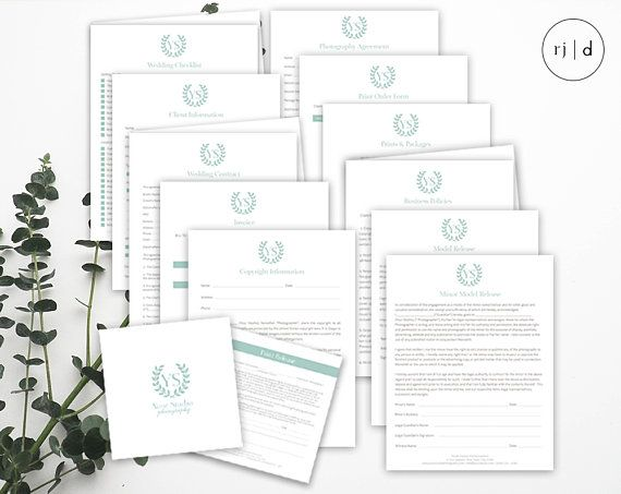 Photography Contracts Set - Photography Business Forms - Portrait - reservation forms in pdf