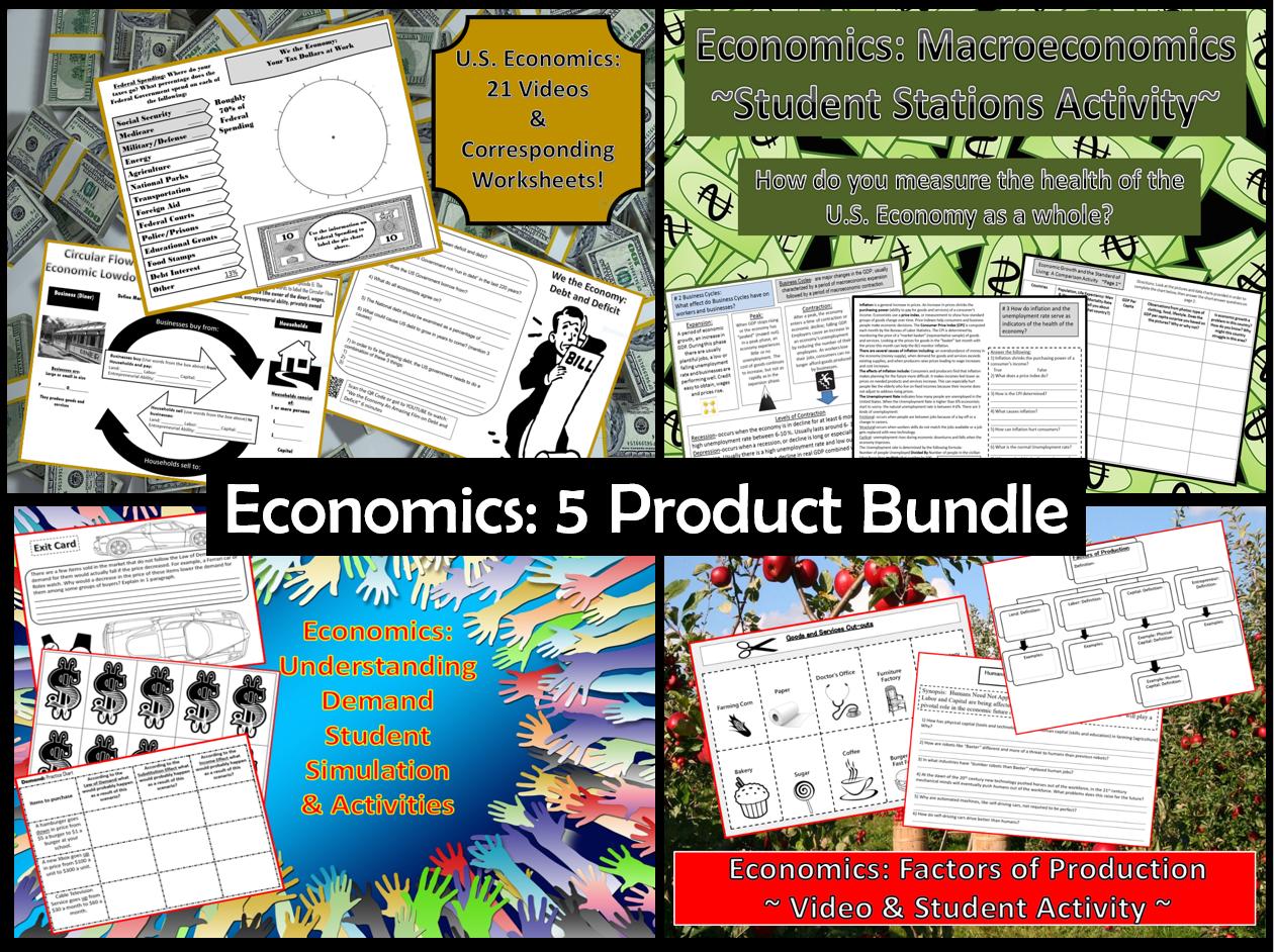 Economics 5 Product Bundle