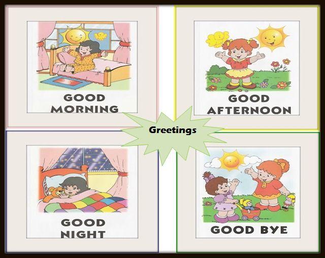 Algunos Saludos Ingles Para Preescolar Ingles Para Ninos