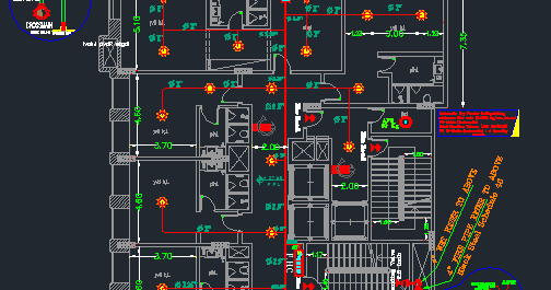 Download Hotel Firefighting And Fire Alarm Project Autocad Drawings With Calculations Fire Protection System Fire Alarm System Fire Sprinkler System