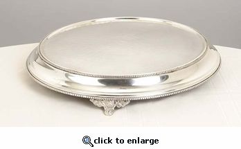 Stainless Steel Cake Stand, 15-inch | Wedding cake stands, Round ...