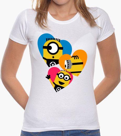 d68036a45 Camiseta Minions corazones