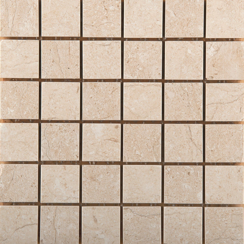 Park Avenue Porcelain Tiles: Emser Tile Park Avenue Marfil Matte/Polished Mosaic 2X2