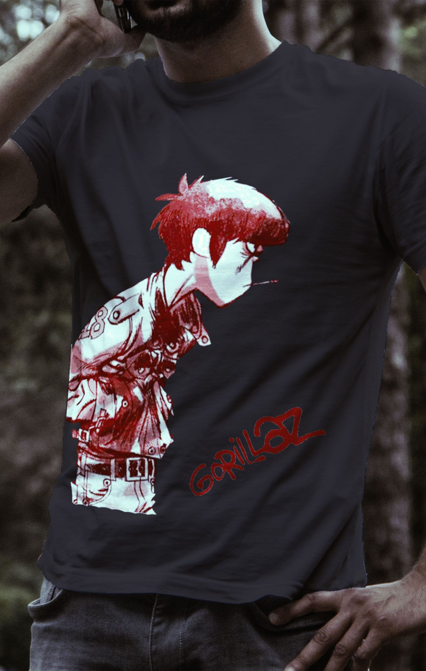 4faac50c Gorillaz Black Murdoc T-Shirt | Things to wear | Shirts, Band ...