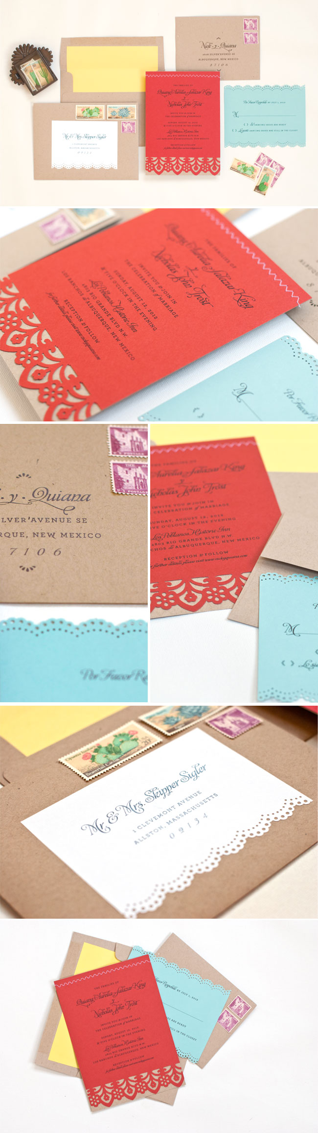 Fiesta wedding invitation • Lilly & Louise • lillyandlouise.com ...