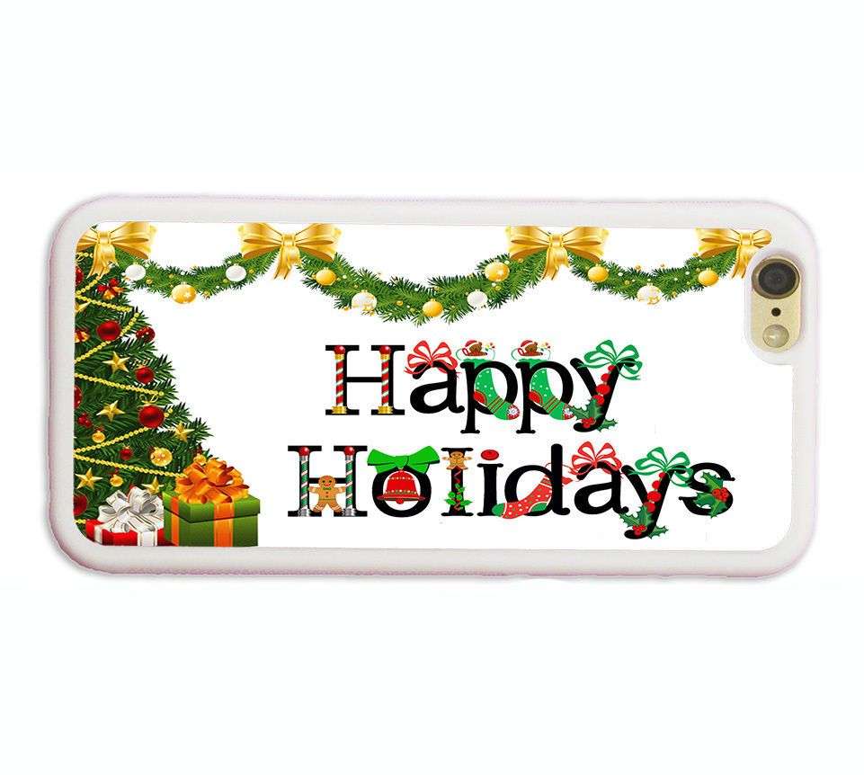 BEST CHRISTMAS GIFT HAPPY HOLIDAYS PHONE Case COVER FOR IPHONE  S