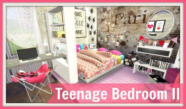Sims 4 Teenage Bedroom Ii Sims 4 Bedroom Sims 4 Loft Sims 4