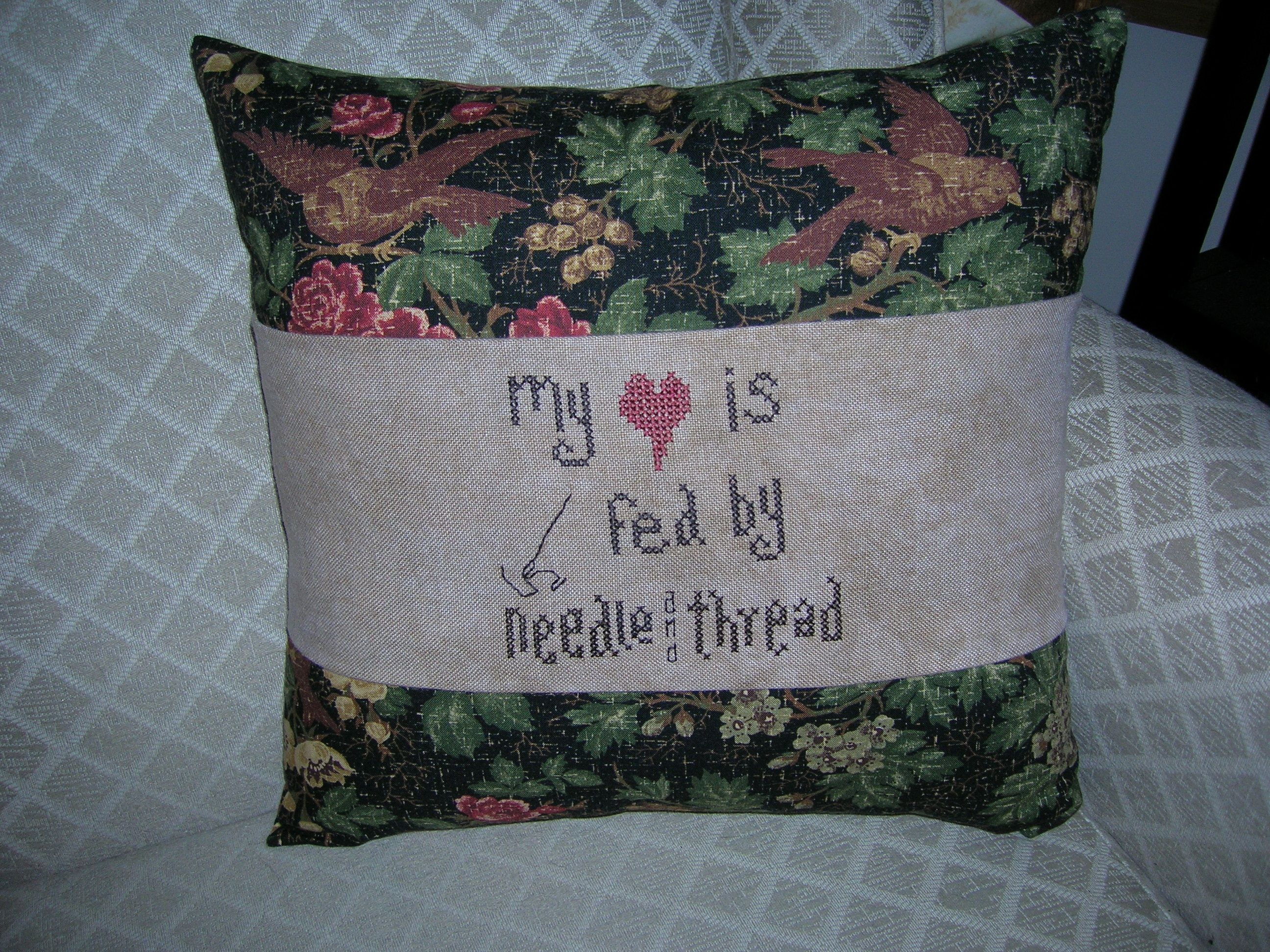 A pillow I made for the sewing studio...just says it all