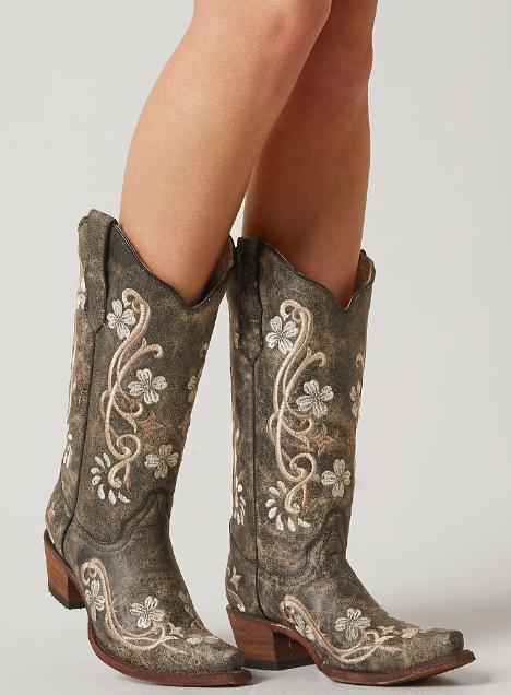 Corral Embroidered Cowboy Boot  Womens Shoes  Buckle