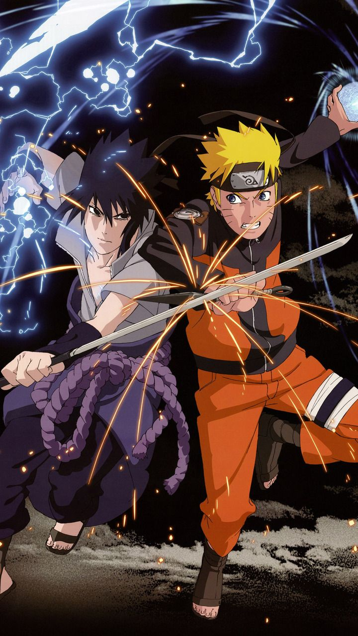 Uchiha Sasuke And Naruto Uzumaki Ilustrasi Karakter Animasi