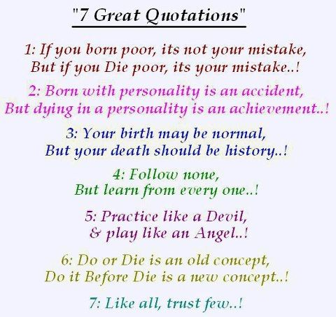 7 great Quotations