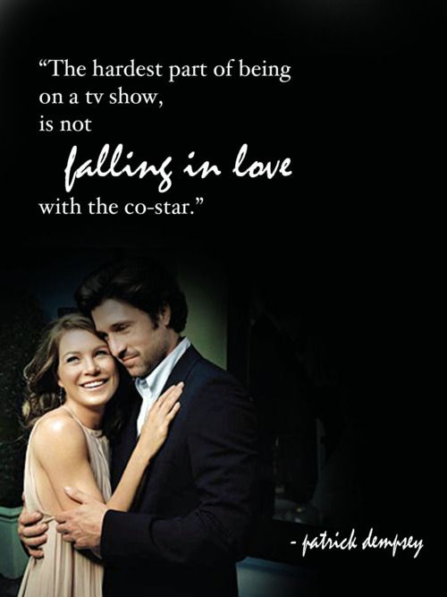 He Fell In Love With Ellen Pompeo Yes Patrick Dempsey Aka The