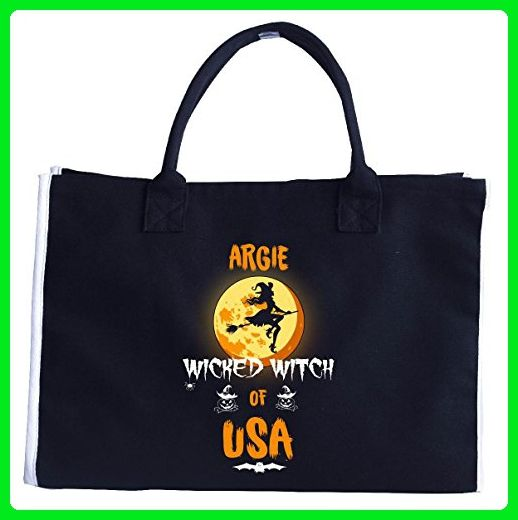 Argie Wicked Witch Of Usa. Halloween Gift - Tote Bag - Totes (*Amazon Partner-Link)