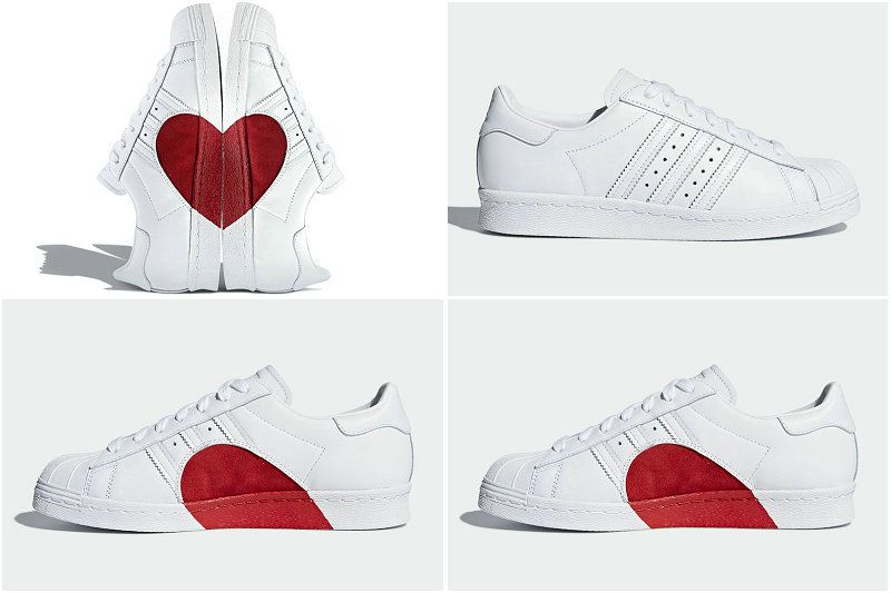 separation shoes 99711 57d70 Cheapest And Latest Authentic UK Adidas SUPERSTAR Valentines Day Love Limit  Couple Love Classic Shoes CQ3009