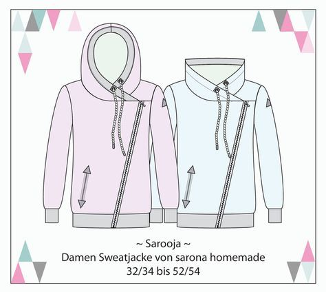 Ebook Sarooja - Sweatjacke für Damen Gr. XS-4XL | Sewing patterns ...