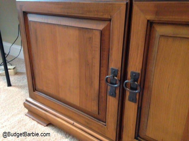 budget barbie how to glaze pinstripe an ugly maple armoire to rh pinterest com