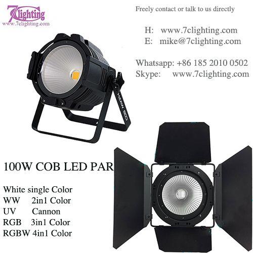 Cob Led Par Light With Or Without Barn Door Build Led Light