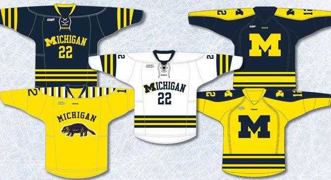 University Of Michigan Hockey Jersey Google Search Michigan Hockey Hockey Jersey Ice Hockey Teams